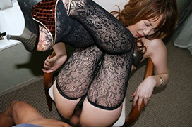 エロい黒ストッキングの美女が正常位セックスでイっちゃうエロ画像 31枚