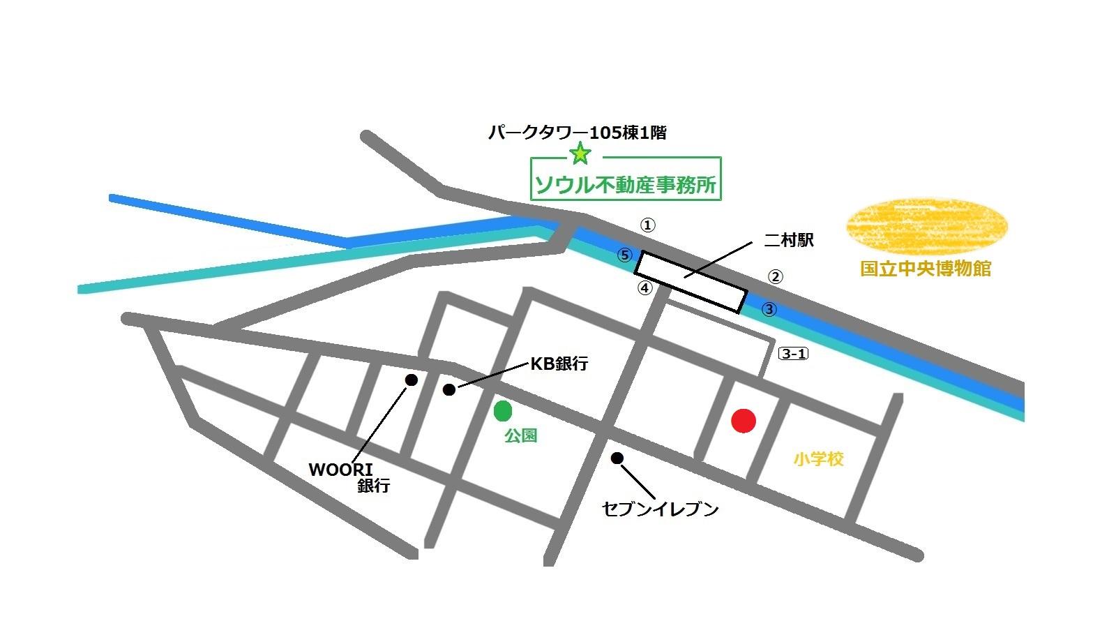 焼肉二村洞 地図