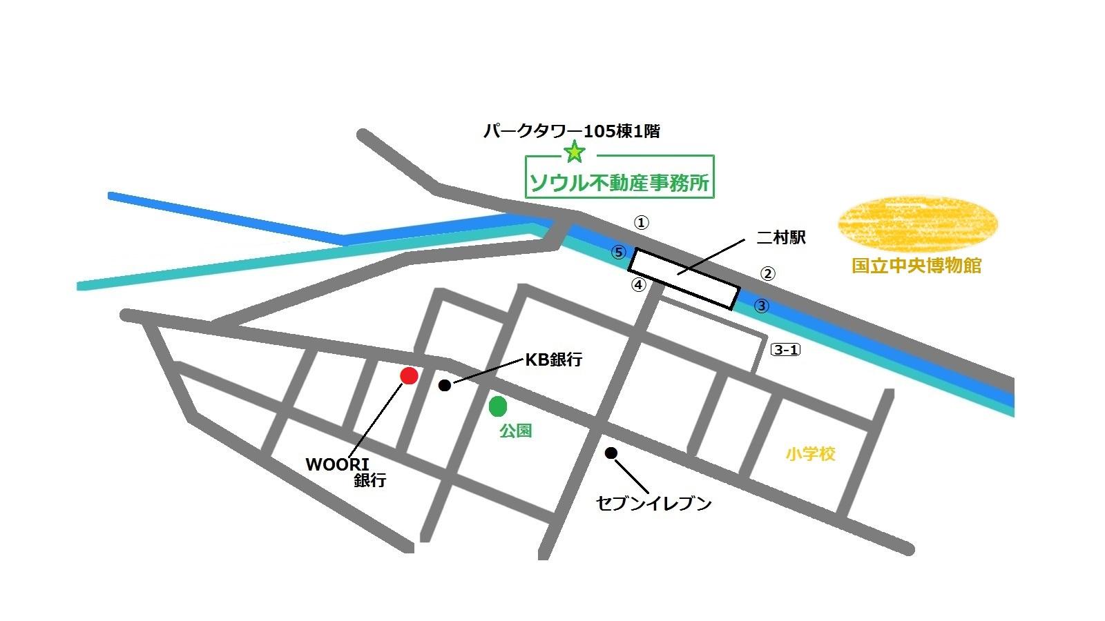 二村拉麺亭 地図