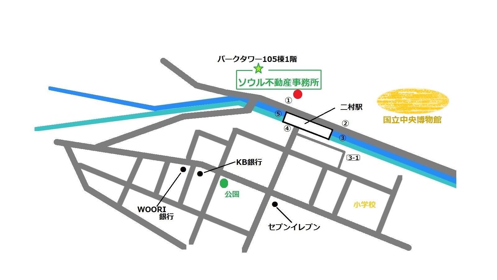 京都マーブル 地図 쿄토마블 오시는길