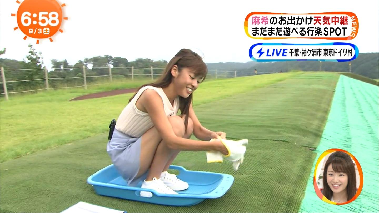 岡副麻希アナ 短パンのスキ間から股間がチラ見え☆☆☆wwwwwwwwww(GIFムービーあり)