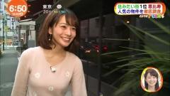高見侑里アナ階段尻画像1