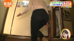 高見侑里アナ階段尻画像3