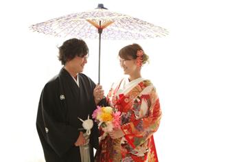 ウエディングフォト群馬伊勢崎k和装婚礼自然光色打
