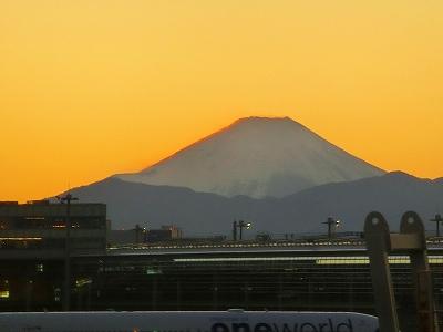 羽田から富士山