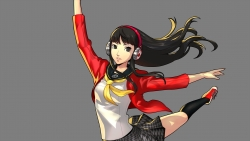 a 333587 amagi_yukiko headphones megaten open_shirt persona persona_4 persona_4__dancing_all_night seifuku transparent_png