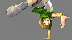 a 333595 bike_shorts megaten open_shirt persona persona_4 persona_4__dancing_all_night satonaka_chie transparent_png