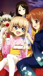 a 333095 anchovy girls_und_panzer katyusha nishizumi_miho nonna thighhighs yoshida_nobuyoshi yukata