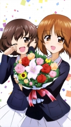 a 331552 akiyama_yukari girls_und_panzer nishizumi_miho seifuku sugimoto_isao