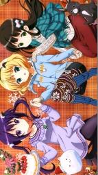 aaaaa 336993 christmas dress gochuumon_wa_usagi_desu_ka_ kirima_sharo pantyhose sweater tedeza_rize thighhighs tsutsumitani_noriko ujimatsu_chiya