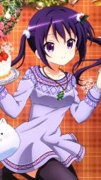 a 336993 christmas dress gochuumon_wa_usagi_desu_ka_ kirima_sharo pantyhose sweater tedeza_rize thighhighs tsutsumitani_noriko ujimatsu_chiya