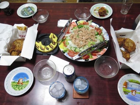 とらきちレモンバウムとケンタの晩御飯