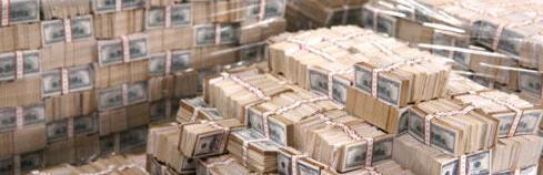 紙幣 大量 横長
