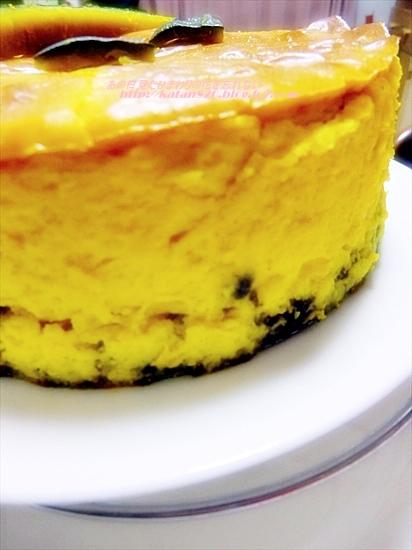 水切りヨーグルトかぼちゃチーズケーキ♪