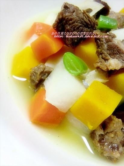 馬肉と根菜のスープ煮♪