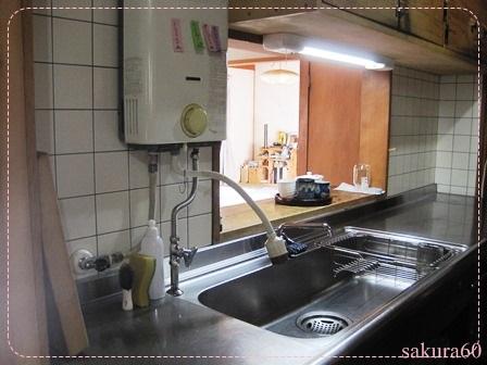朝の片付け後のキッチン