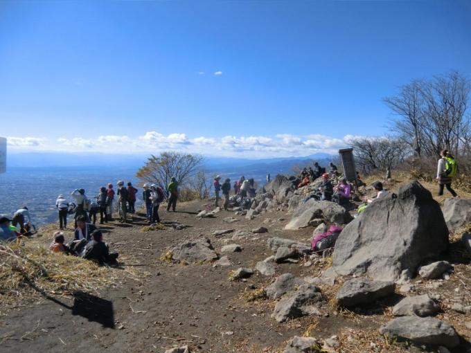 下山時の山頂