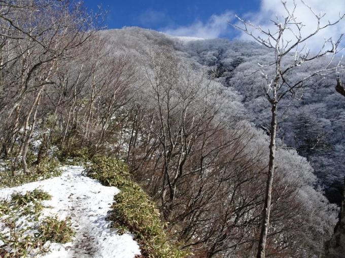 登山道と黒檜山