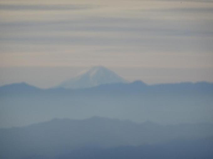 南端から富士山