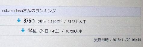 2015119 4位&170位&柿 025-2