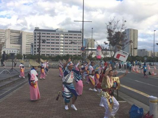 神戸楠公連 神戸マラソン2015