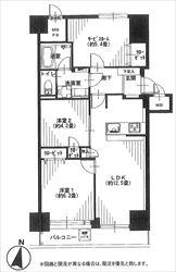 朝日広尾マンション317号間取り図_R