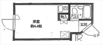 アルカサール洗足池302号間取り図_R