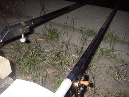 チヌ落とし込み竿とリール