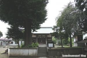 下ノ氷川神社(志木市下宗岡)9