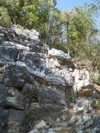 最初の岩場