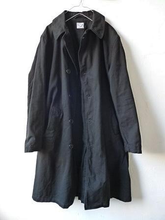 【orslow】US Navy Soutien Collar Coat 【オアスロウ】USネイビーステンカラーコート (ユニセックス)151026o1.jpg