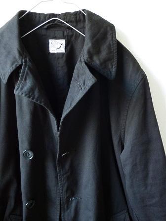 【orslow】US Navy Soutien Collar Coat 【オアスロウ】USネイビーステンカラーコート (ユニセックス)151026o2.jpg