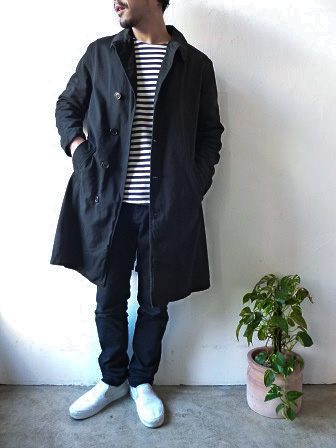 【orslow】US Navy Soutien Collar Coat 【オアスロウ】USネイビーステンカラーコート (ユニセックス)151026o6.jpg
