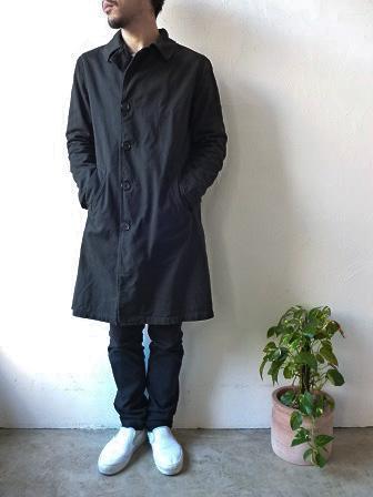 【orslow】US Navy Soutien Collar Coat 【オアスロウ】USネイビーステンカラーコート (ユニセックス)151026o7.jpg