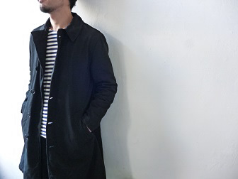 【orslow】US Navy Soutien Collar Coat 【オアスロウ】USネイビーステンカラーコート (ユニセックス)151026o8.jpg