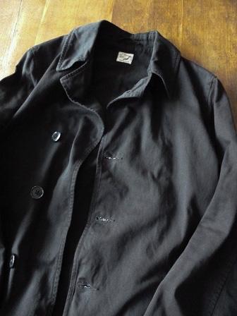 【orslow】US Navy Soutien Collar Coat 【オアスロウ】USネイビーステンカラーコート (ユニセックス)151026o9.jpg