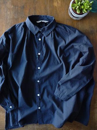 【GRANDMA MAMA DAUGHTER】A Line Gather Wide Shirt 【グランマ ママ ドーター】Aラインギャザーワイドシャツ (レディース)151028g1.jpg