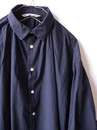 【GRANDMA MAMA DAUGHTER】A Line Gather Wide Shirt 【グランマ ママ ドーター】Aラインギャザーワイドシャツ (レディース)151028g10.jpg