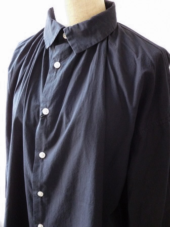 【GRANDMA MAMA DAUGHTER】A Line Gather Wide Shirt 【グランマ ママ ドーター】Aラインギャザーワイドシャツ (レディース)151028g11.jpg