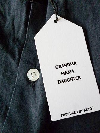 【GRANDMA MAMA DAUGHTER】A Line Gather Wide Shirt 【グランマ ママ ドーター】Aラインギャザーワイドシャツ (レディース)151028g13.jpg
