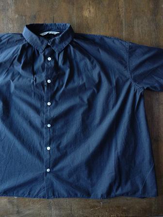 【GRANDMA MAMA DAUGHTER】A Line Gather Wide Shirt 【グランマ ママ ドーター】Aラインギャザーワイドシャツ (レディース)151028g2.jpg