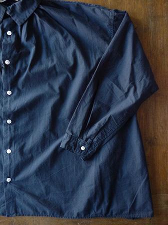 【GRANDMA MAMA DAUGHTER】A Line Gather Wide Shirt 【グランマ ママ ドーター】Aラインギャザーワイドシャツ (レディース)151028g3.jpg