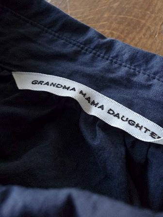 【GRANDMA MAMA DAUGHTER】A Line Gather Wide Shirt 【グランマ ママ ドーター】Aラインギャザーワイドシャツ (レディース)151028g5.jpg