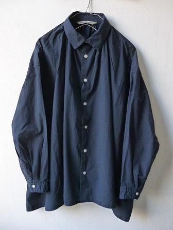 【GRANDMA MAMA DAUGHTER】A Line Gather Wide Shirt 【グランマ ママ ドーター】Aラインギャザーワイドシャツ (レディース)151028g9.jpg