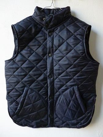 【Beaver】(Beaver of Bolton) Stand Collar Quilted Vest 【ビーバー】スタンドカラーキルティングベスト Made in England (ユニセックス)151030b6.jpg