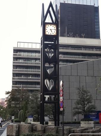 内幸町交差点の時計