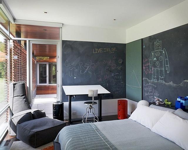 Multiple-chalkboard-walls-for-the-open-bedroom.jpg
