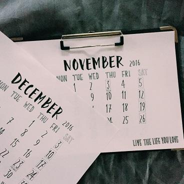 手書きカレンダー