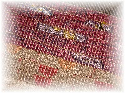 裂き織りマフラー23-1