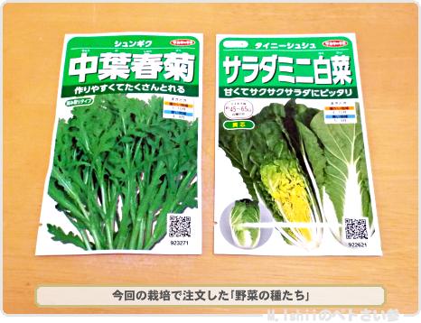 秋冬向け野菜の種2016